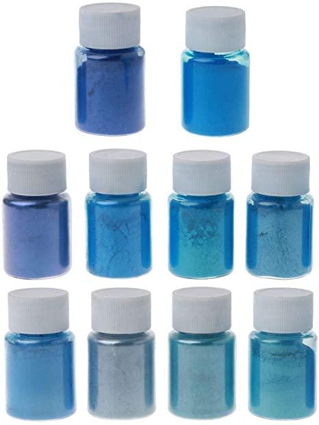 epoxy resin blue color